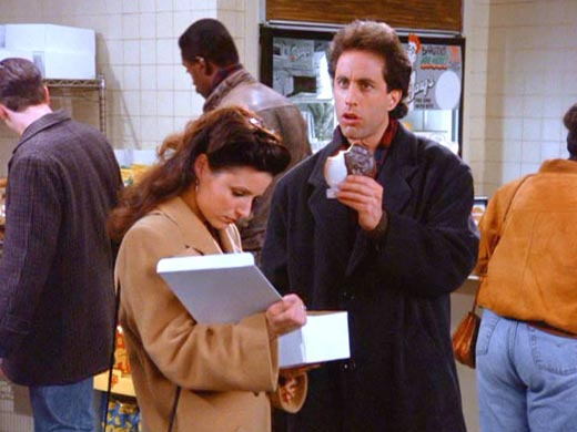 Look to the cookie, Elaine. Look to the cookie!