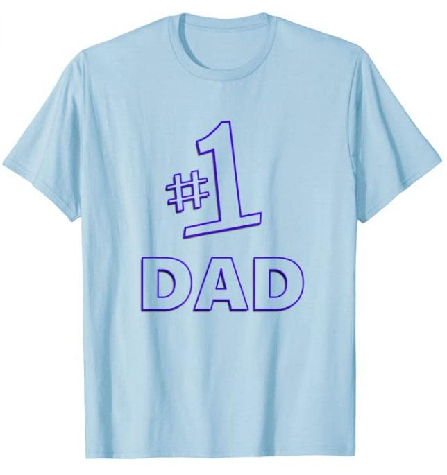 Mens #1 Dad T-Shirt